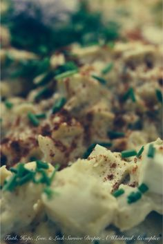 Deviled Egg Potato Salad | Faith, Hope, Love, and Luck Survive Despite a Whiskered Accomplice