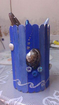 diy pen stand using icecream sticks