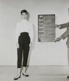 Audrey Hepburn fashion test