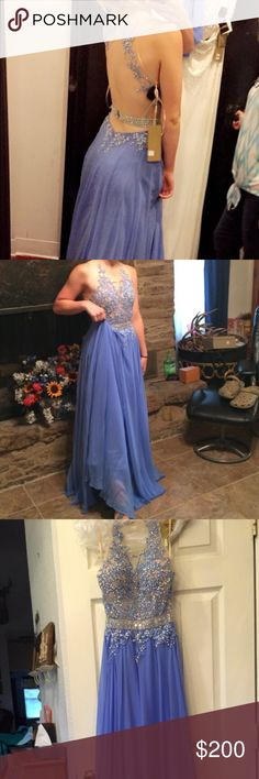 Prom dress Periwinkle prom dress worn once, small tear on the bottom but hard to see Dresses Prom