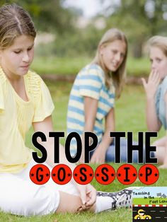 Gossip is Like Glitter: A blog post about a quick and meaningful lesson that can stop gossip in its tracks.  Great idea... the kids won't forget the lesson.