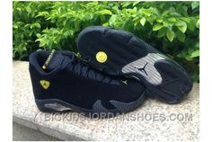 d31f29f27df471 Air Jordan 14 Retro Black University Blue Metallic Men 2016 Discount. Cheap  Jordan ShoesAir ...