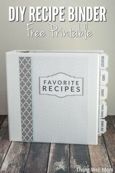DIY Recipe Binder (with Free Printable Downloads).  Figure out even more at the image link