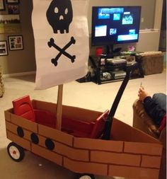 Wishes do come true...: How to make a pirate ship wagon DIY trunk or treat pirate party