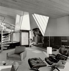 Interior of the Ketterer House (1954-55) in Stuttgart, Germany, by Chen Kuen Lee