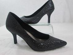 "Fioni Nights Sparkle Shoes Black 3"" Point Toe Pump Heel  Size 7.5 #Fioni #PumpsClassics"