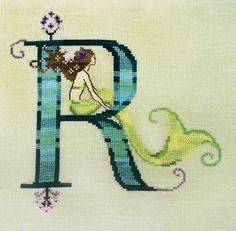 Letters From Mermaids - R - Cross Stitch Pattern