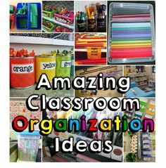 Classroom organization finds shared by some very creative teachers - great pictures and ideas!