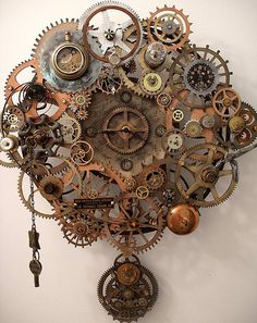 Steampunk -- Breathe Pendulum Clock! This is fantastic - look at all the parts and pieces!!!