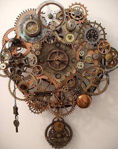 Steampunk Breathe Pendulum Clock