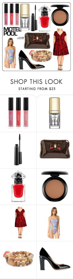 """""""motel pool"""" by kristeen9 ❤ liked on Polyvore featuring Sigma, Dolce&Gabbana, MAC Cosmetics, Ted Baker, Guerlain, City Chic, Red Carter, Lacey Ryan and Valentino"""