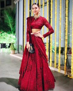 Bridal Lehenga Colour Palettes and What They Represent Dress Indian Style, Indian Fashion Dresses, Indian Gowns, Indian Designer Outfits, Designer Dresses, Indian Bridal Outfits, Bridal Dresses, Long Skirt Fashion, Bridal Lehenga Collection