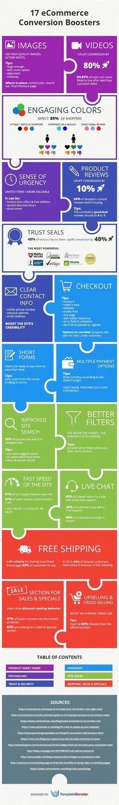 Sales - 17 Ways to Boost Your E-Commerce Conversion Rates [Infographic] : MarketingProfs Article
