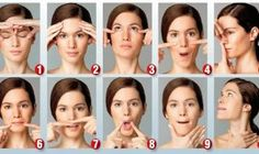 Facial Yoga poses daily is a lot of fun to do. Best and most inexpens Practicing Facial Yoga poses daily is a lot of fun to do. Best and most inexpens. -Practicing Facial Yoga poses daily is a lot of fun to do. Best and most inexpens. Massage Facial, Facial Yoga, Facial Muscles, Anti Aging Facial, Anti Aging Tips, Fitness Workouts, Yoga Fitness, How To Do Facial, Reduce Face Fat