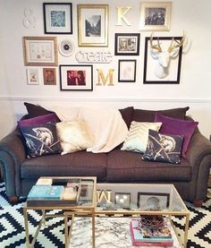 loving the way that faux deer is used on this gallery wall! Would use a real one from the hubs!: