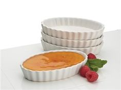 Set of 4 Chef's Tools Oval Ramekins by BonJour by BonJour at Cooking.com #holidaycooking
