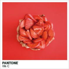 Strawberry Tart Recipe: Pantone 186C by Ani Tzenkova #Tart #Strawberry