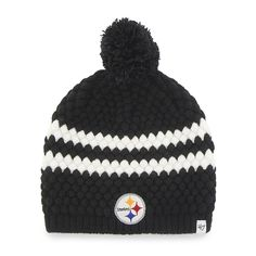 new concept e7d4e df55c Pittsburgh Steelers Kendall Beanie Black 47 Brand Womens Hat