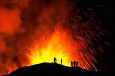 Volcano Eruption @ Fimmvorduhals by Gunnar Gestur, via Flickr