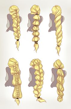 by dreamwips--Rapunzel hair concepts