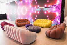 Roche Bobois | Annual gala of the Whitney museum in NYC, USA | BUBBLE sofas, designed by Sacha Lakic #rochebobois #frenchartdevivre