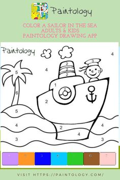 This a quaint coloring exercise that is ideal for both children and adults. You will have no trouble making this colored drawing with the Paintology drawing app. Just open up the color picker and load the eight colors to use with the line brush. To get quickly accustomed to the tools of the paintology app,You will find the link to the app available from the Google play store at the end of the post. #paintbynumbers #freepaintbynumbers #easypaintingstodraw #paintbynumbertemplate #creativepaintings