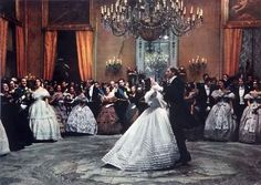 Burt Lanchaster and Claudia Cardinale. Ballroom scene from The Leopard (Il Gattopardo) directed by Luchino Visconti.