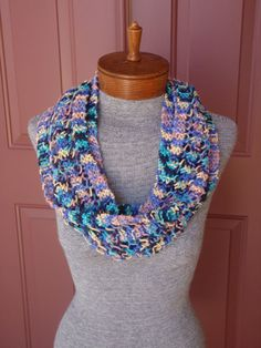 Multi colored hand knitted 100 cotton by susansworld on Etsy, $35.00