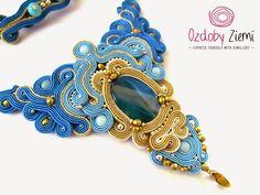Ozdoby Ziemi: Naszyjnik sutasz dla Ofelii  #sutasz #soutache #necklace #necklaceSoutache #jewellery #jewellerySoutache #handMade #fashion