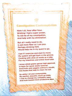 Constipation Contemplation poem
