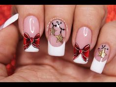 Perfect Christmas In addition to home decoration, don't forget to have a personal fashion dress. It is important not to miss making a Christmas acrylic nails. Xmas Nails, Cute Nail Art, Christmas Nail Art, Holiday Nails, Simple Acrylic Nails, Christmas Nail Designs, Classy Nails, Beautiful Nail Designs, Nail Decorations