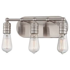 industrial lighting - perhaps for guest bath above mirror