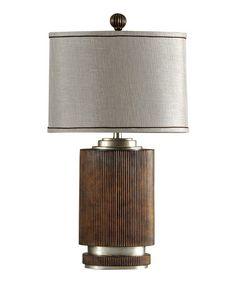Another great find on #zulily! Silver & Khaki Winthrop Lamp #zulilyfinds