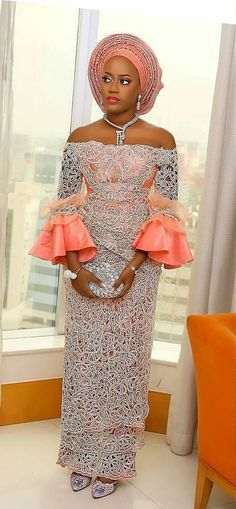 The most beautiful collection ankara aso ebi styles of 2018 you must try. These beautiful aso ebi are very exotic Aso Ebi Lace Styles, African Lace Styles, Lace Dress Styles, African Lace Dresses, Kente Styles, African Dresses For Women, African Wear, African Attire, African Fashion Dresses