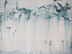 """Linear Abstraction Glass Study I. Mixed Media 30"""" x 40"""" 2012. Emma Hollins : Aesthetic Edge ©"""