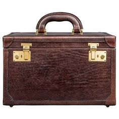 Maxwell Scott Bags - Luxury Italian Leather Women's Vanity Case... ($520) ❤ liked on Polyvore featuring beauty products, beauty accessories, bags & cases, cosmetic purse, cosmetic bags, purse makeup bag, dop kit and make up purse