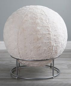 Look at this #zulilyfind! Big Swirl Faux Fur Yoga Ball Chair #zulilyfinds
