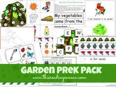FREE Garden PreK Pack - This Reading Mama