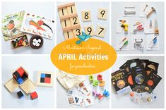 Montessori inspired April activities
