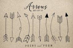 50% Off Hand Drawn Arrow Clip Art - Illustrations