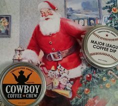 Santa's Gift Christmas Coffee in a Can Holiday Stocking Reindeer Candy Santa Man