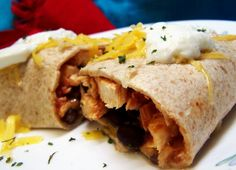 Chicken Burritos With Cheese And Black Bean Salsa Recipe