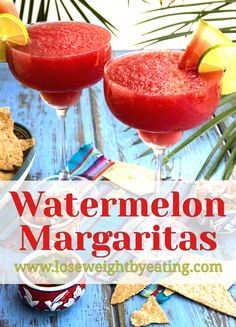 This Frozen Watermelon Margarita recipe not only tastes great, it's lower in calories than a regular margarita. Kids will love the virgin recipe, too!