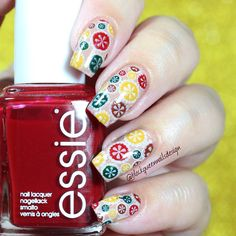70's Flowers with Big Stamping Plate A from drknails.com by IG @blackqueennailsdesign