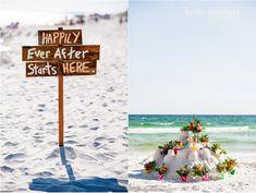 Love these beach wedding details! |destin beach wedding sandcastle photo