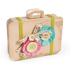 Sizzix ScoreBoards XL Die - Bag, Suitcase $39.99  I think this would make great party favors
