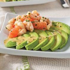 Salade d'avocats, crevettes et pamplemousse - Entrées et soupes - Recettes 5-15 - Recettes express 5/15 - Pratico Pratique