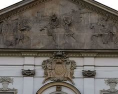 Facade of the Krasiński Palace (Commonwealth's Palace) in Warsaw, created between 1677 and 1683 for the Voivode of Płock, Jan Dobrogost Krasiński by Tylman Gamerski with sculptural work by Andreas Schlüter. © Marcin Latka #facade #krasinskipalace #warsaw #tylmangamerski #sculptural #andreasschluter #baroque #palace Great Names, Warsaw, Baroque, Facade, Sculpture, Statue, Roman, Art, Art Background