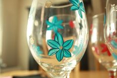 Living Craftily Ever After: Tutorial- Hand Painted Wine Glasses- Guest Post on Sweet Peas and Bumblebees
