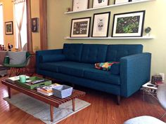 Joybird Furniture - Commerce, CA, United States. Braxton in Key Largo Zenith Teal